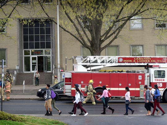 At 2:57 p.m. Tuesday, April 26, Lebanon City firefighters