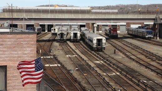 A view of the train yard at the Metro-North Maintenance Facility at the Croton-Harmon Yard, April 15, 2015.