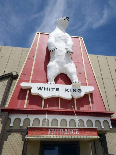 The giant polar bear that graces the Commercial Casino