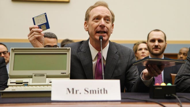 Brad Smith, president and chief legal officer at Microsoft Corp., explains how much technology has changed in the last three decades to a House committee in February.