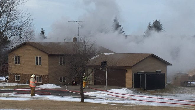 Firefighters fought a fire Friday morning at 22655 Fairfield Road near St. Augusta.