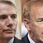 GOP incumbent Sen. Rob Portman and his challenger, former Gov. Ted Strickland, a Democrat