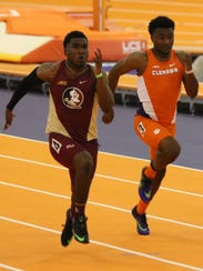 Florida State sophomore sprinter Darryl Haraway recently