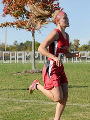 Shaylee Campbell of Bucyrus competes in the N10 Cross