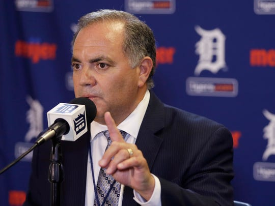 Detroit Tigers general manager Al Avila addresses the