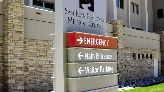 San Juan Regional Medical Center as seen on May 2, 2014, in Farmington.