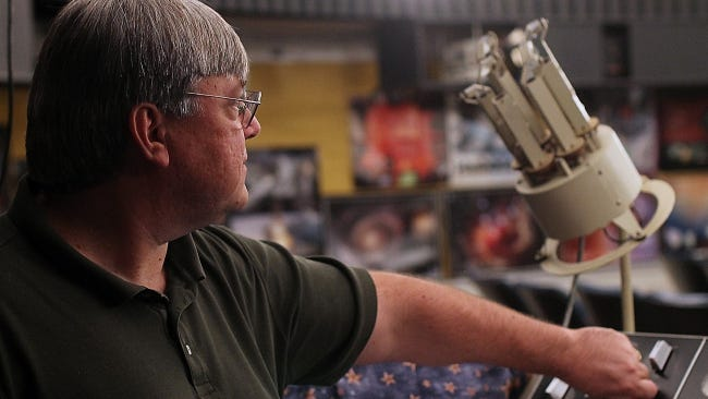 Todd Ullery operates the planetarium at the York Learning Center.