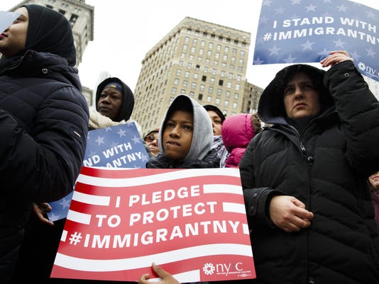 Rally in Support of Muslim and Immigrant Communities in New York