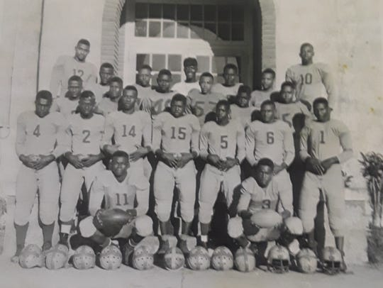 The Dunbar Tigers football team. 1947-48