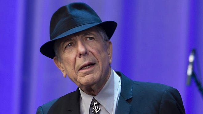 Leonard Cohen performs at the Olympic Stadion in Amsterdam.