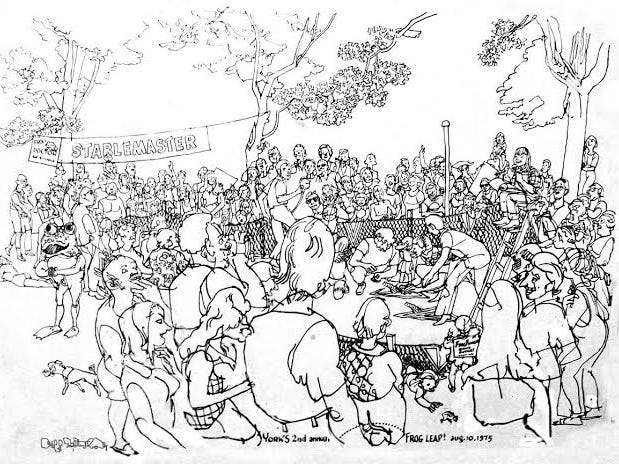 artist captures a glimpse of 1970s life in york pa racing frogs 1936 College Life