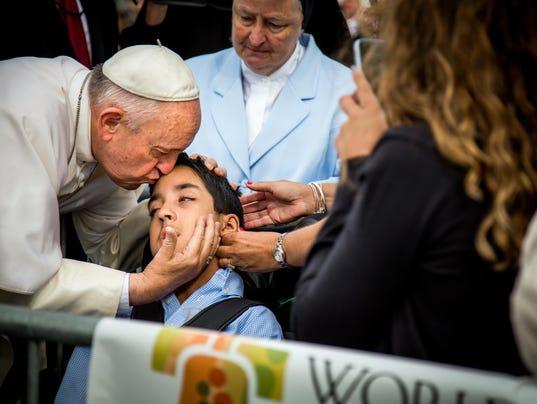 AP APTOPIX US POPE FRANCIS A USA PA
