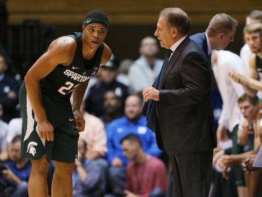 NCAA Basketball: Michigan State at Duke