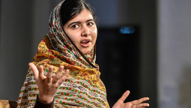 Malala Yousafzai delivers a speech at the World's Children's Prize ceremony in Mariefred, Sweden