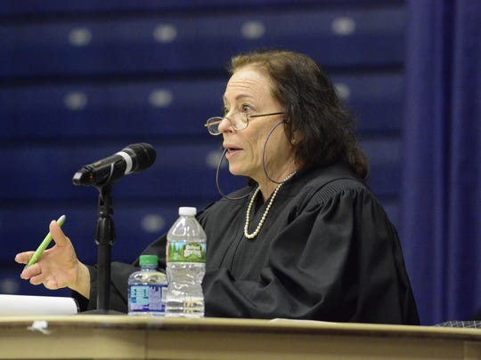 A hearing was held on Wednesday at Brookdale Community College in Lincroft regarding a proposed JCP&L power line project that will affect Monmouth County residents. Judge Gail Cookson presided at the hearing.