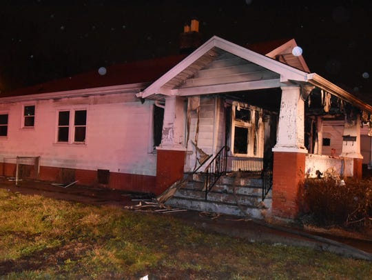 A woman died in a fire at a home in the 3800 block