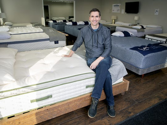 Ben Trapskin's retail mattress store in Edina, Minnesota, saw sales increases of 50 percent last year compared to 30 percent online.