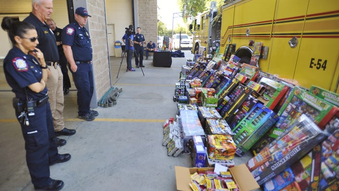 Visalia police and fire departments conducted illegal fireworks stings. More than 1,200 pounds of illegal works were seized.