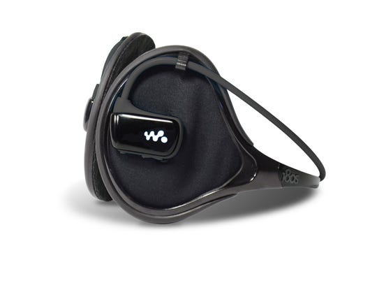The Exolite Groove two-in one device includes a water-proof MP3 player that can be worn alone, in or out of the water, and a lightweight ear warmer that can be worn on its own.