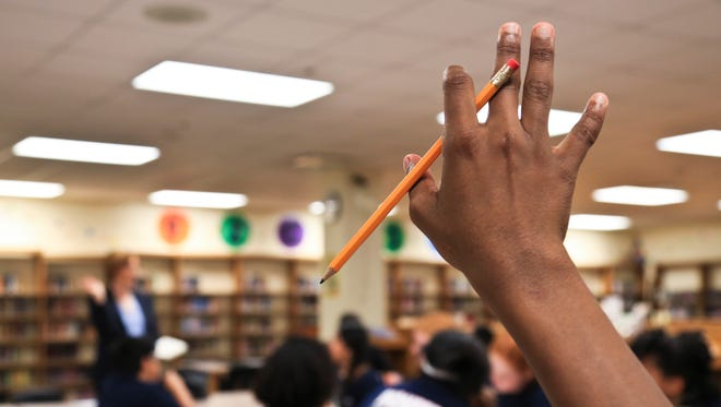 Students had comments during a chat with JCPS superintendent Donna Hargens at Crosby Middle School Tuesday morning. Hargens was looking for input from students themselves on what possible solutions could help the make the school better and less crowded.