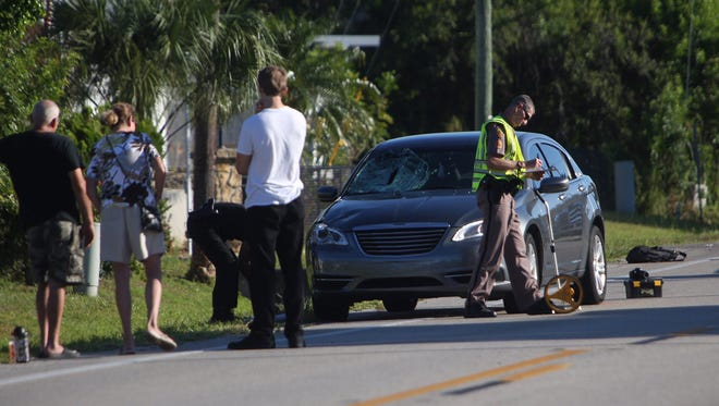 The Florida Highway Patrol investigates the  scene of a crash on Pine Ridge Road involving a 16-year old getting on a school bus.  The student attends Fort Myers High School and is in critical condition.