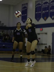 Game action between First Baptist Academy and The Canterbury School in the District 3A-6 volleyball final on Thursday at Canterbury in Fort Myers.