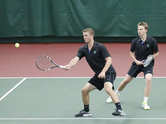 The Green Bay Notre Dame doubles team of Charlie Parish