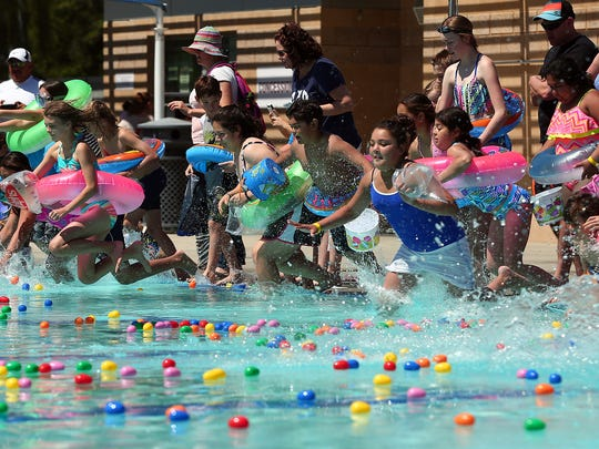 The Palm Desert Aquatic Center will host its annual Underwater Egg Hunt at about 12:30 p.m. on Sunday, April 21, 2019.