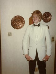 James Bond, er, Brad Wadlow, on his way to the senior prom in 1985.