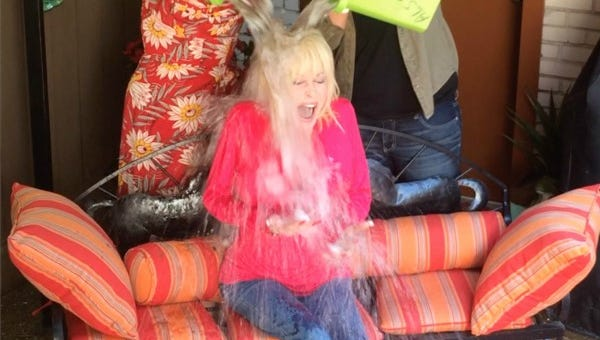 Dolly Parton takes the Ice Bucket challenge