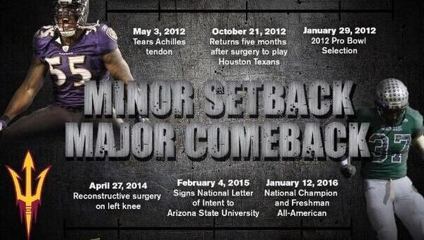Temucla (Calif.) Chaparral linebacker Malik Lawal is impressed with Arizona State's recruiting creativity.