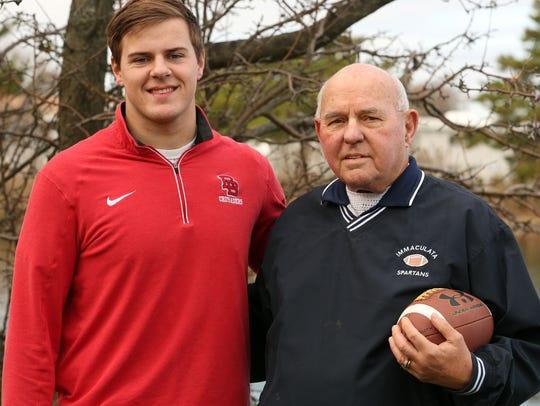 Pierce Frauenheim with his grandson Kyle Frauenheim