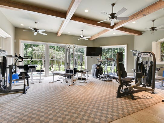 No need for a gym membership with this home.