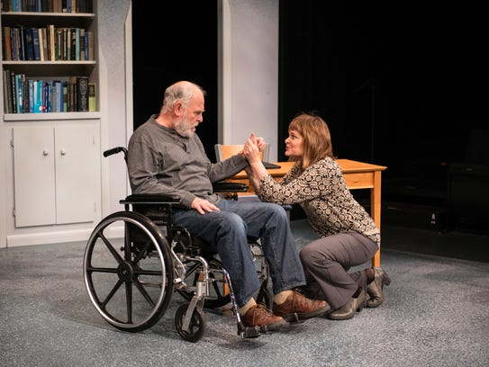 James Pickering and Tami Workentin share a scene in