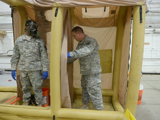Members of the Army's 101st Airborne Division train