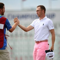 Justin Thomas goes low, trails leader Brian Harman by one at U.S. Open