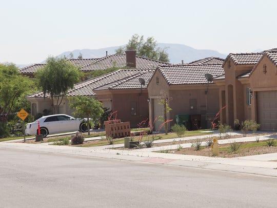 Homes in the Bellissima neighborhood in Coachella, April 11, 2017.