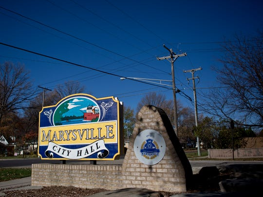 Marysville voters are being asked an advisory question as to whether the city should move forward with plans to develop a municipal office complex.