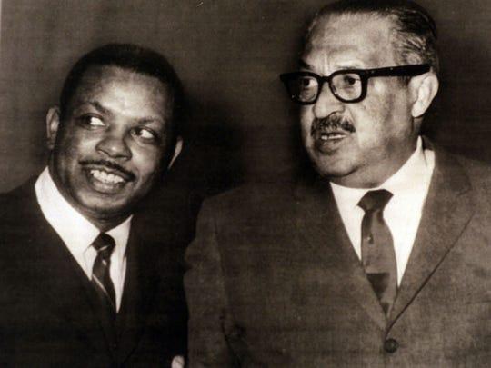 Damon Keith and Thurgood Marshall.