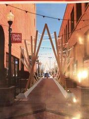 "A rendering of artist Diana Gabriel's potential ""walk-through"""