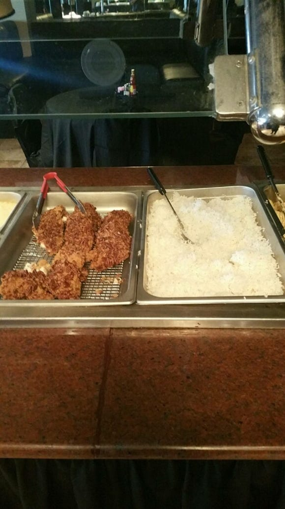 The pecan-crusted catfish is one of many items to be