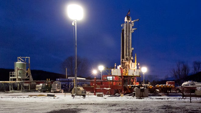 This Jan. 17, 2013 file photo shows a drilling site in New Milford, Pa.