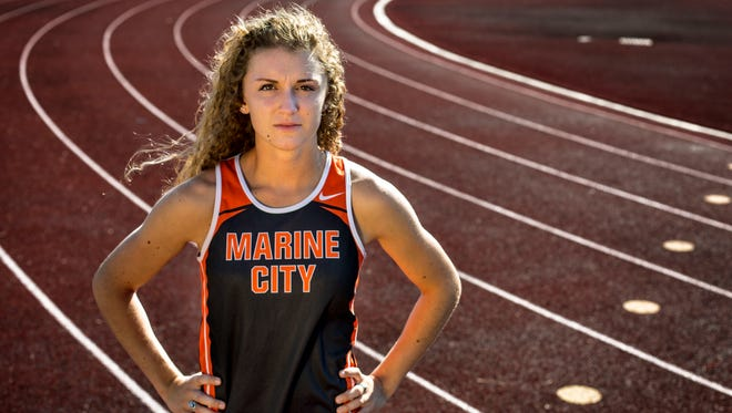 Marine City's Hannah Coverdill is the Times Herald Track and Field Runner of the Year.