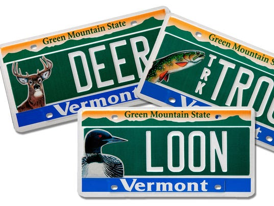 Vermont unveils new conservation license plates for Fishing license vt