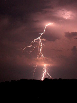 In the United States, roughly 70 people die from lightning strikes each year.