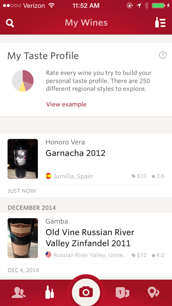 Vivino Wine Scanner allows a person to learn all kinds of information about wines by taking a photo of the label.