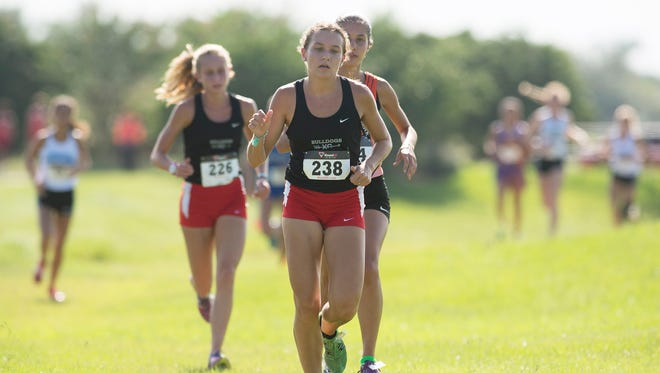 South Fork's Katrina Wynne competes Thursday, August 31, 2017 in the 11th annual Wayne Cross High School Cross Country Invitational at Champion Turf Club at St. James in Port St. Lucie. To see more photos, go to TCPalm.com. CQ: Katrina Wynne