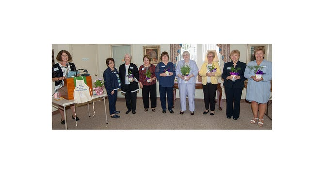 Millville Woman's Club installed new officers at a recent luncheon meeting. Pictured at the installation are: (from left) installing officer Jane Snyder, southern district vice president; Pam McNamee, outgoing president; Pat Moore, incoming president; Nuha Hababo, second vice president; Linda Green, corresponding secretary; Carrie Weckstein, financial secretary; Jane Christy, membership chairman; and Barbara Scudder and Sandy Walter, trustees. Diann Ewan, third vice president, is not pictured.