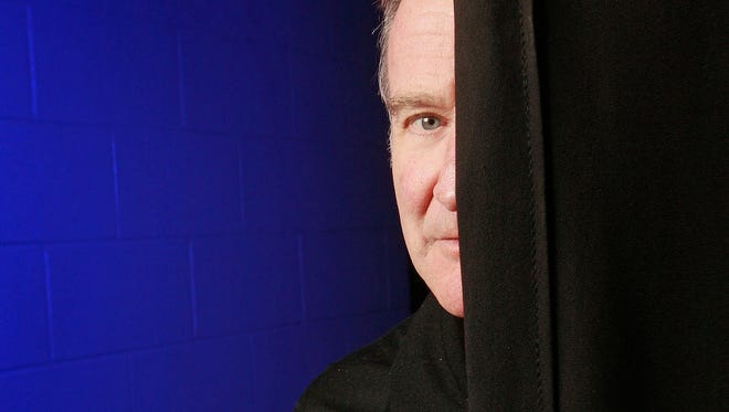 Robin Williams photographed backstage before his performance at the Ted Constant Convocation Center during a 30-city tour October, 26, 2009 in Norfolk, Virginia.