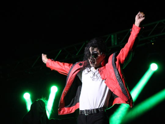 Danny Dash Andrews as Michael Jackson for tribute show